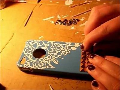 DIY: Studded iPhone Case.