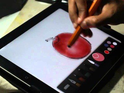 Drawing using Paper by FiftyThree. Simple and best drawing apps on ipad.