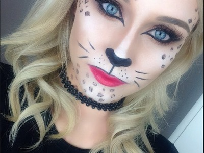 Glamorous Leopard. Cat Makeup Tutorial ♡ Perfect for Halloween and Fancy Dress