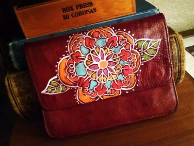 Hand paint your thrift store purse
