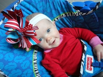 Happy Birthday Dr. Seuss! (Cat in the Hat inspired hairbow tutorial) **Design Idea**