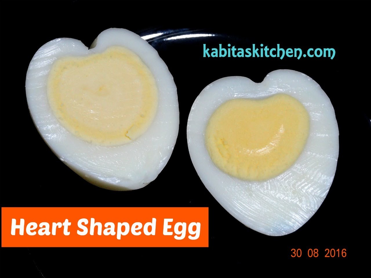 Heart Shaped Boiled Egg | How to Make Heart Shaped Egg | Useful Trick by Kabitaskitchen