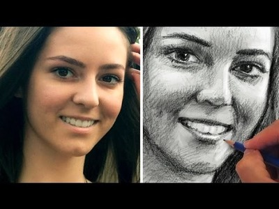 How to Draw a Pretty Face - Portrait Sketch