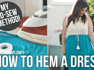 How to Hem a Dress or Skirt. NO sewing required!