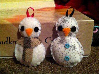How to Make a Cute Snowman Plushie