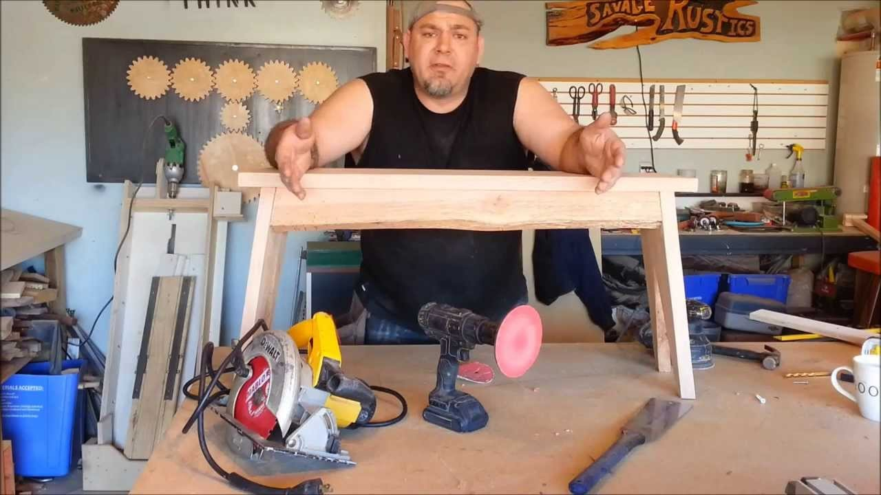 How to Make a Simple Rustic Bench