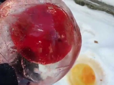 How To Make Ice Marbles ~ Incredible Science