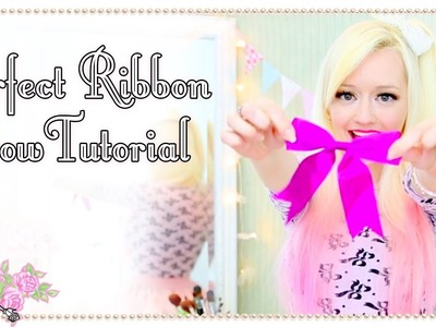 How To Make The Perfect Ribbon Bow - Quick Tips - Violet LeBeaux
