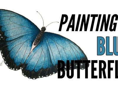 How To Paint A Butterfly With Inktense In Blue