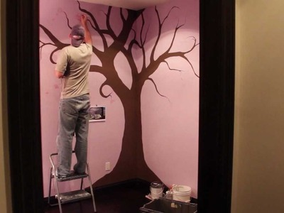 How to Paint a Nursery Tree 24hrs in 37 secs Time Lapse