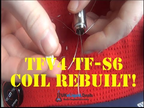 How To Re-build The Smok TFV4 TF-S6 Coil Head