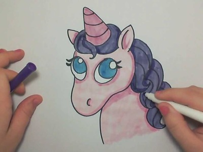 Learn How to Draw A Cute Pink Unicorn -- iCanHazDraw!