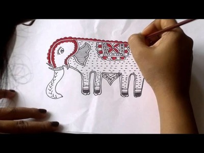 Lesson 10 : (हिन्दी) Draw an Elephant in Madhubani Art - Part 3