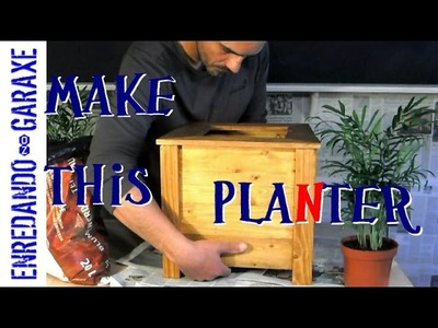Make a planter box with pallet wood