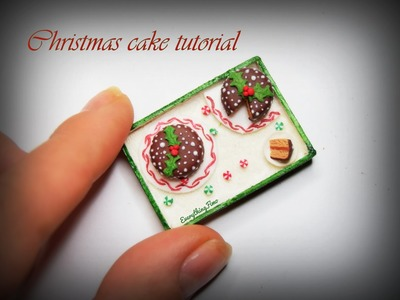Miniature Christmas Cake Tutorial-Polymer Clay