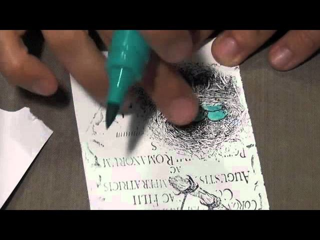 Mixed Media Tags - Tutorial using Gelatos and Stamper's Big Brush pens
