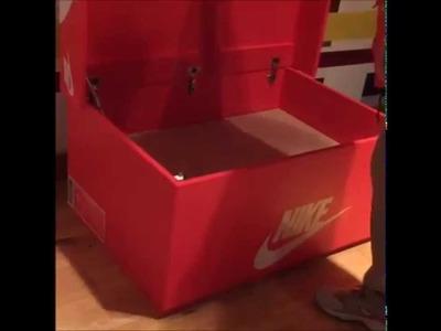 Nike & Air Jordan Slide Out Wooden Sneaker Box Storage by Designer Woodist Punk