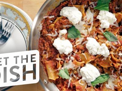 One-Pot Skillet Lasagna Recipe   Get the Dish