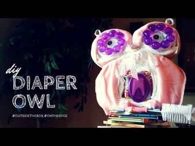 Owl Diaper Cake Tutorial - Baby Shower Idea