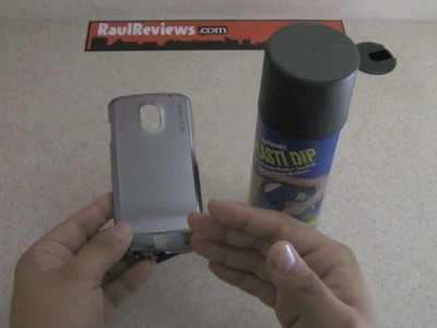 Plastidip a phone case for grip and texture