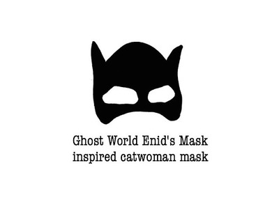 Sewing + DIY Halloween Refashion Ghost World Enid's Mask inspired catwoman mask
