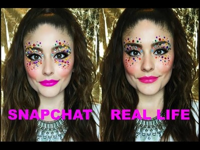 'Shine Bright Like A Diamond!' SNAPCHAT Filter Inspired Makeup Tutorial