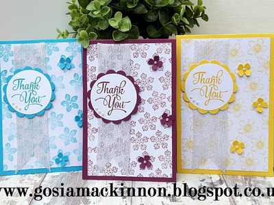 STAMPIN' UP! PETITE PETALS BACKGROUND HANDMADE CARD IDEA