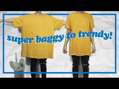 Transformation: Super Oversized Shirt to Trendy!