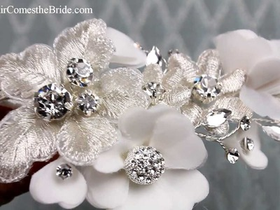 Vintage Beaded Flower Hair Clip  from Hair Comes the Bride