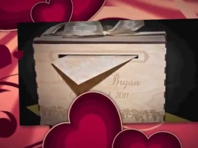 Wedding GIFT CARD box - personalized