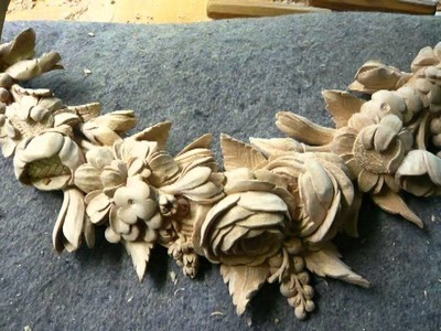 WOODCARVING ( PART 1) :Limewood Foliage Carving ( Supraporte )