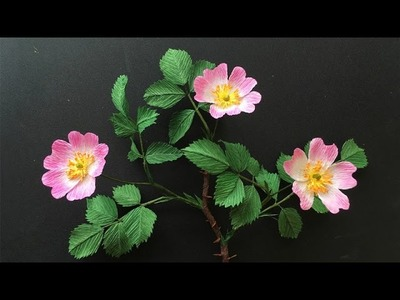 ABC TV | How To Make Wild Rose Paper Flower From Crepe Paper - Craft Tutorial