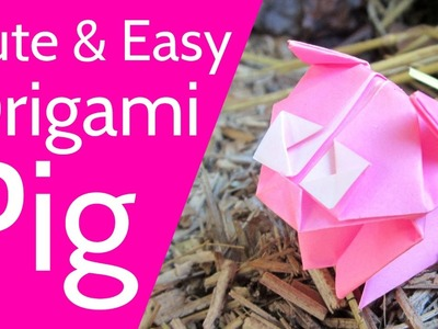 Cute and Easy Origami Pig Tutorial ???? Learn how to make a cute origami piglet!
