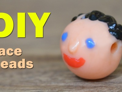 DIY: HOW TO MAKE A FACE BEADS FROM PLASTIC BOTTLE TOPS