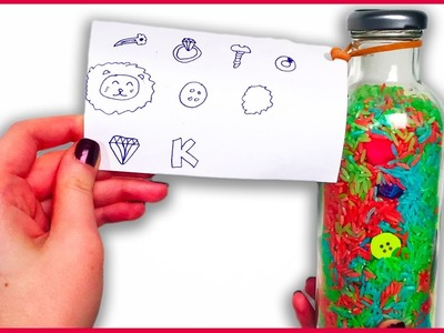 DIY How to Make A Surprise Toy Sensory Rainbow Rice Spy Bottle