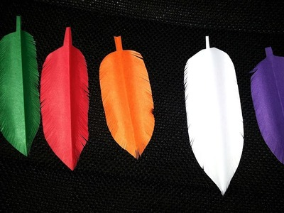 DIY How to Make Paper Feather