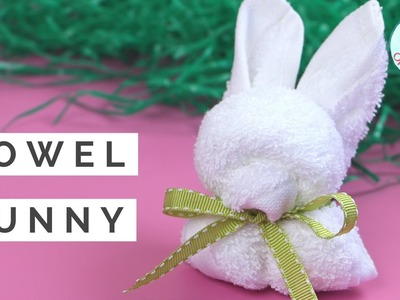 Easter Crafts - How to Fold A Towel Bunny Rabbit - Animal Towel Folding Tutorial