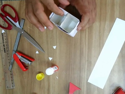 Easy Pen Stand with Waste materials  How to make  diy