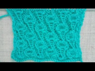 Easy Single Color Knitting Pattern No.58 Hindi