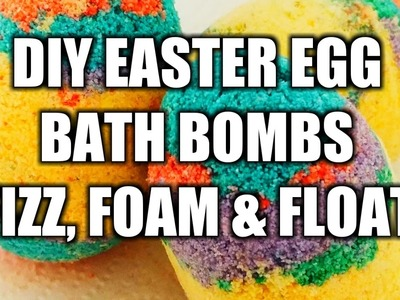 GIVE AWAY!!How to make bath bombs float, fizz and foam! Easter edition!!