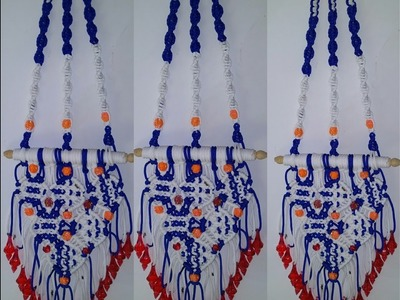 Hi viewers and subscribers.how to make key hanger macrame at home very simple design