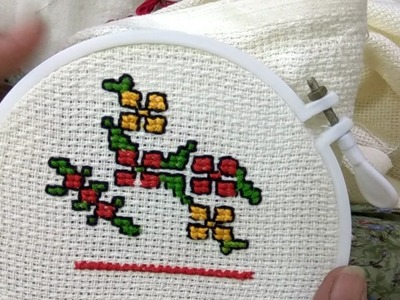 [HINDI] How To Make Chop Stitch and Double Cross Stitch