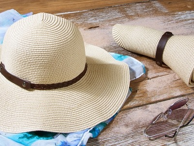 How do you pack a sun hat?
