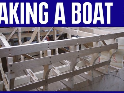 How to Build a Small Wooden Boat #8 Not Using Marine Plywood - Electric Powered - Hull Bow Frames