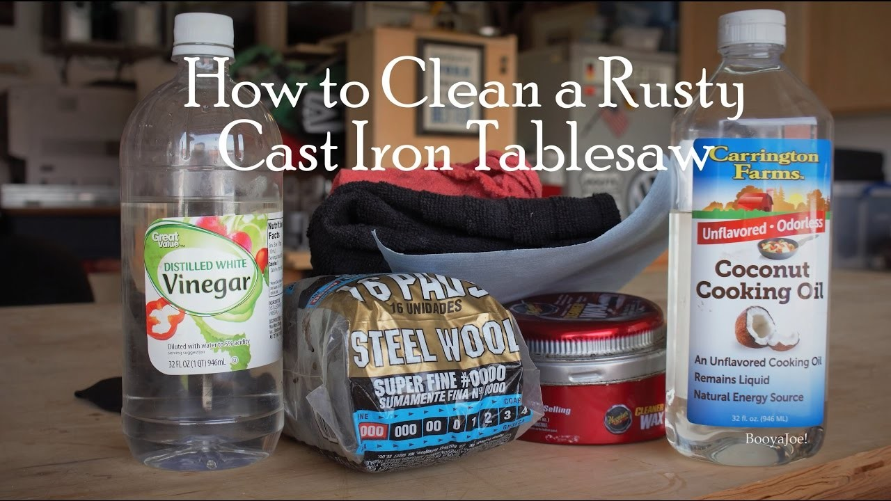 How to Clean Rust from Tablesaw