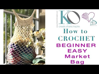 How to Crochet Bare Classic Market Bag Easy Quick Gift Right Hand Crocheters