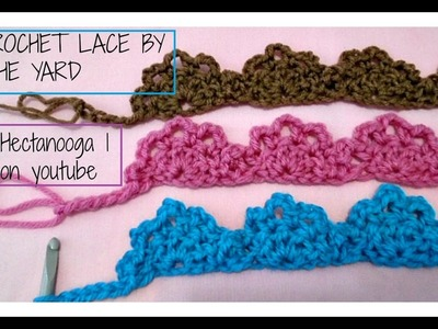 How to crochet  lace by the yard, edging, trim, embellishment,  crochet as much as needed end to end
