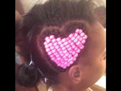 How To Do Heart Braid with beads INSIDE!
