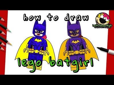 How To Draw LEGO BATGIRL | The Lego Batman Movie