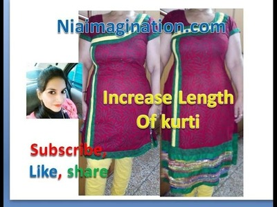 How to increase length of kurti Sew & no sew methods | in English